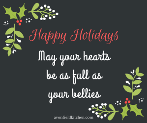 Happy holidays from Avonfield Kitchen